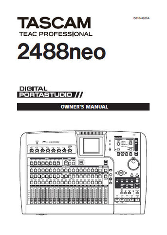 tascam 2488 neo owners manual