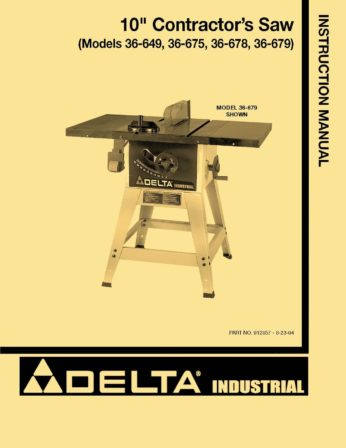 delta table saw manual 34 670