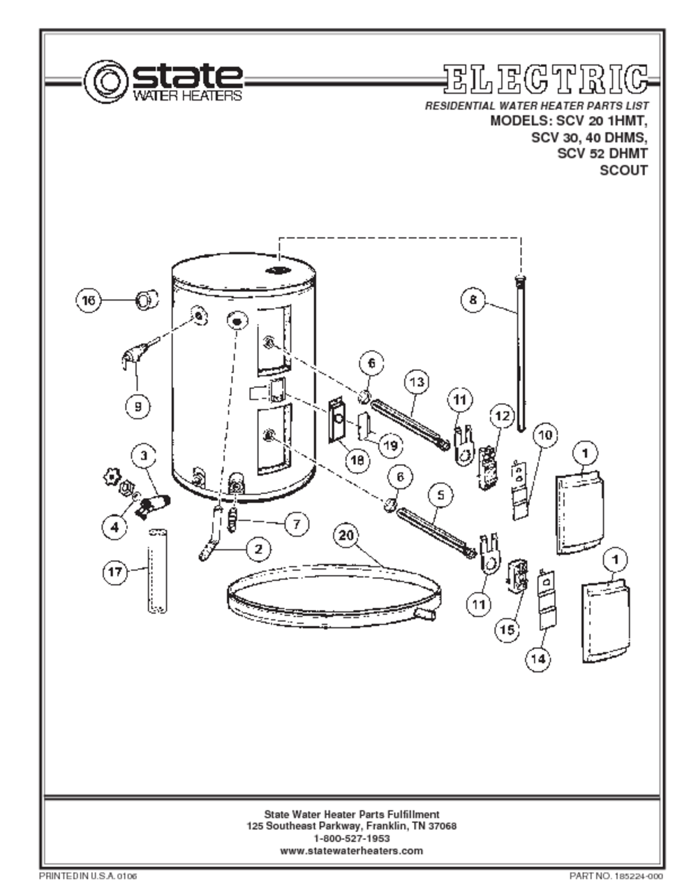state scout water heater manual