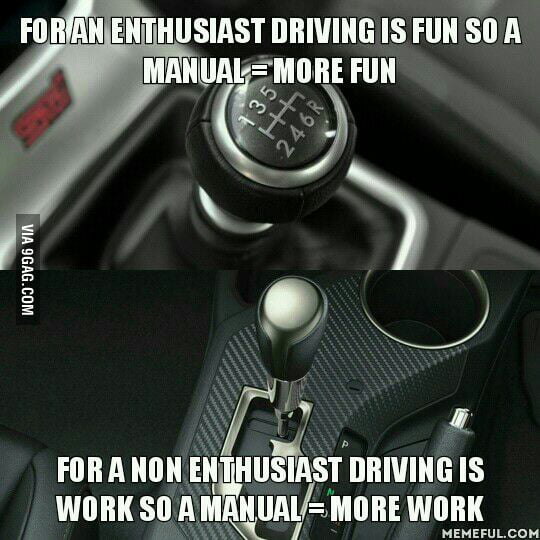 how to drive an automatic car in manual